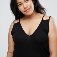 ASOS CURVE Swing Tank with Double Strap at asos.com