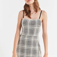 UO Cher Plaid Straight-Neck Mini Dress | Urban Outfitters