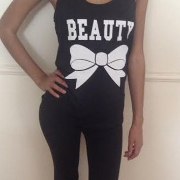 Free/Fast  Shipping for US Beauty Burnout Tank Top