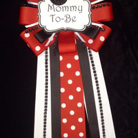 Minni mouse baby shower mum
