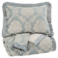 Joisse Queen Comforter Set - Sage - Free Shipping!