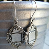 Silver Medallions & sterling silver ear wires. Dangle earrings. Silver earrings. Sterling silver jewelry. Boho. Wedding. moroccan.