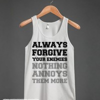 Always Forgive-Unisex White Tank