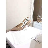 DIOR Fashion Trending Leather Women High Heels Shoes Women Sandals Heel