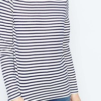 ASOS Long Sleeve Crew Neck Stripe With Tipping