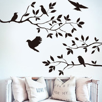 Wall Sticker Tree DIY Removable Art Vinyl Wall Stickers Decor Mural Decal Tree Birds Home Decoration Wall Art #84230