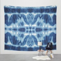 Tie Dye Blues Twos Wall Tapestry by Nina May Designs | Society6