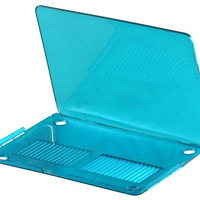 Transparent Plastic Case for Apple Retina Macbook Pro 13 Laptop (Blue)