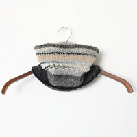 USEFUL COWL shades of natural white-gray-black, comfortable and easy to wear, hand knitted for men and women