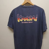 25% SALES ALERT Vintage 90's Kansai Men T Shirt Japan Souvenir Street Wear Swag Hip Hop Top Tee Size Xl
