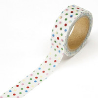 DARICE 1217-91 Washi Tape Roll, 5/8 by 315-Inch, Mixed White
