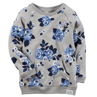 Carter's Floral French Terry Tunic - Toddler Girl, Size:
