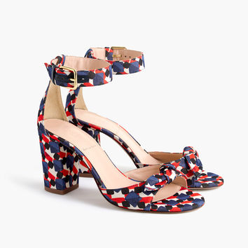 Knotted high-heel sandals