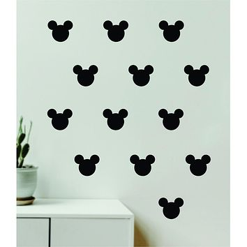 Mickey Mouse Pattern Wall Decal Home Decor Bedroom Room Quote Vinyl Sticker Teen Baby Kids Disney Disneyland Cartoon