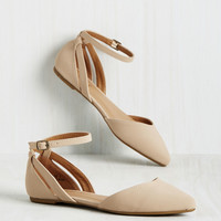 Pep Ahead of the Game Flat in Sand | Mod Retro Vintage Flats | ModCloth.com