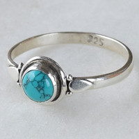 Turquoise ring,gift her,silver turquoise ring,blue turquoise ring,925 silver ring,silver ring,small ring,turquoise ring,bohemian ring
