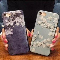 Flower Orchid soft Phone Case