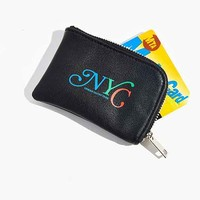 UO Souvenir New York Zip Cardholder