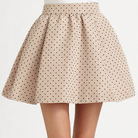 RED Valentino - Polka Dots Faille Skirt