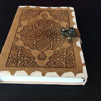 Handmadw leather journal habdmade diary sctap book notebook gift