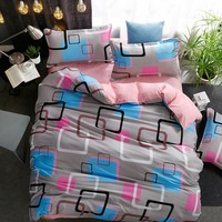 Bedding set Queen size 4pc Duvet cover sets Twin Full size  Polyeter Duvet Cover Home Textile  Dropshipping Coloured lattices