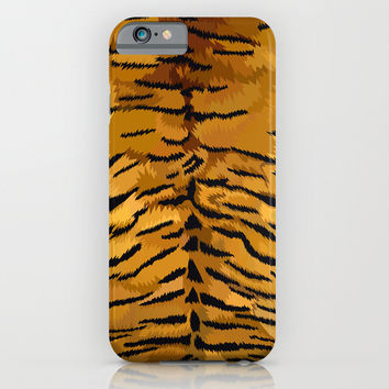 Tiger fur skins digital painting iPhone 4 4s 5 5c 6, pillow case, mugs and tshirt iPhone & iPod Case by Three Second