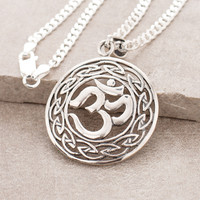 Silver Astral OM Necklace
