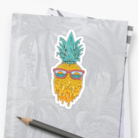 'Pineapple Summer' Sticker by coffeeman