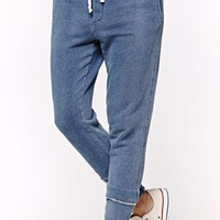 Bullhead Denim Co Indigo Knit Jogger Pants - Womens Jeans - Blue
