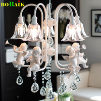 Modern Crystal Chandeliers W/ The Angel For Living Room Light Modern Lamps Lustre Lighting Led