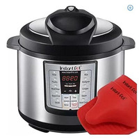 Stainless 6-in-1 Pressure Cooker with Mini Mitts