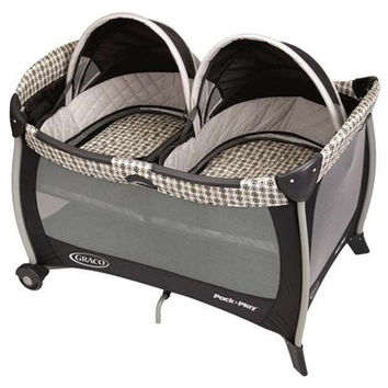 Twins Portable Bassinet Pack 'n Play Playard Play Pen Yard