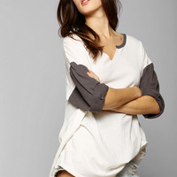 Colorfast Colorblock Henley Tee - Urban Outfitters