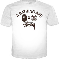 Bape x Stussy Collaboration Logo T-Shirt