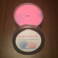 4 oz Cotton Candy Scented Soy Candle/ Cotton Candy
