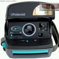★ POLAROID 600 TURQUOISE/GREY INSTANT CAMERA. PX600 FILM COMPATIBLE. (Ref:120) ★