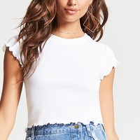Lettuce-Edge Crop Top