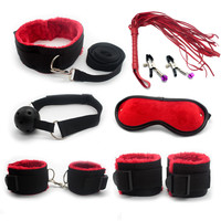 Fun Adult game Toys 7 Pcs sex products for couples fixed foot hand Goggle Whip sex toys bondage Restraint sex bondage kit