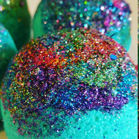Aurora Gypsy Sparkle Bath Bombs. Glitter. Party Favors. Lush like Bath Bombs. Dead Sea Salts. Turquoise Water. Shea Butter Moisture.