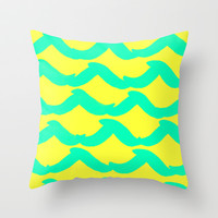 WAYFARER- SURFER Throw Pillow by Rebecca Allen