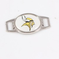 10pcs Minnesota Vikings American Football Team Shoelaces Charms For Sport Shoes And DIY 550 Paracord Charms Bracelets