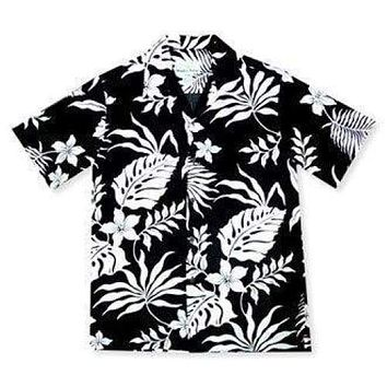 kawaihae black hawaiian rayon shirt