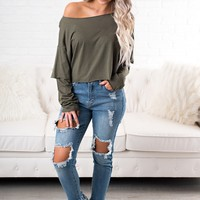 More Time Basic Top (Olive)