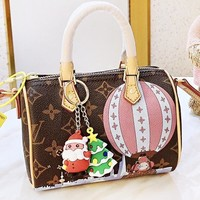 LV Louis Vuitton New fashion monogram leather santa accessories shoulder bag crossbody bag handbag