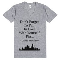 Fall In Love With Yourself-Unisex Athletic Grey T-Shirt