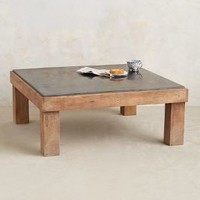 Slate Inset Coffee Table by Anthropologie Black One Size Furniture