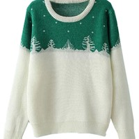 Christmas Tree Pattern Sweater - OASAP.com