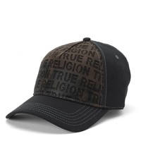 True Religion Perforated Front Baseball Cap - Black