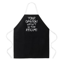 Attitude Apron Your Opinion Apron, Black, One Size Fits Most