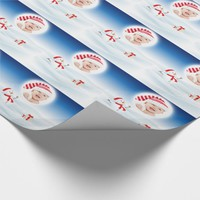Custom Photo, Christmas , Snowman Wrapping Paper